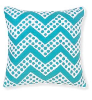 Fizz Aqua Throw Pillow ADD INSERT PFF-18X18 - LIQ