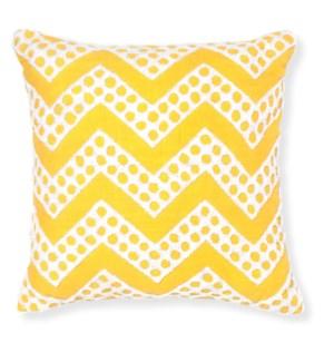 Fizz Yellow Throw Pillow ADD INSERT PFF-18X18 - LIQ