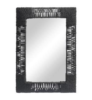 Folha Rectangular Mirror in Black
