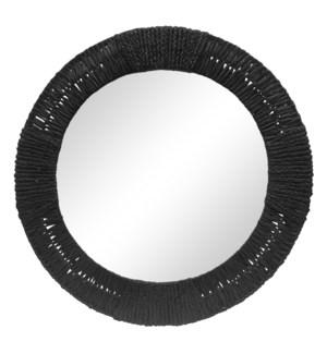 Folha Round Mirror in Black
