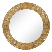 Folha Round Mirror in Natural