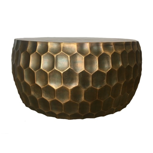 Hive Coffee Table in Antique Brass