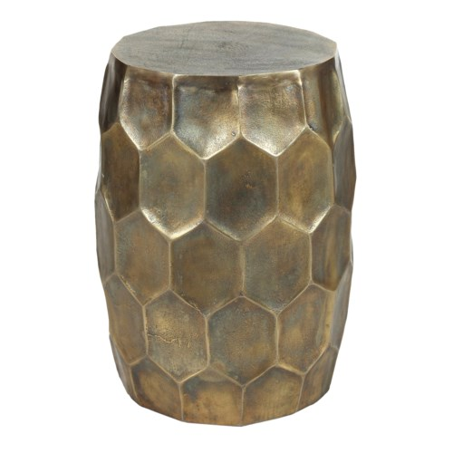 Hive Side Table in Antique Brass