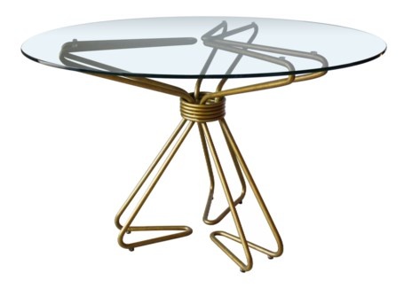 Hairpin Dining Table Base in Gold