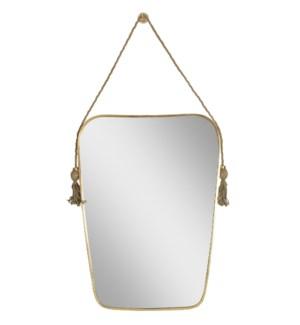 Dorna Tassel Mirror in Brass