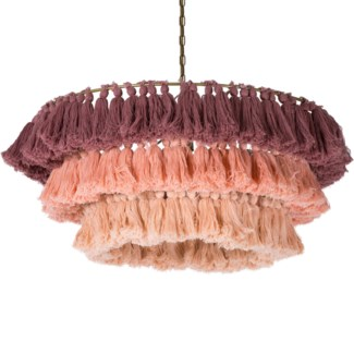 Fela Tassel Chandelier in Blush Ombre
