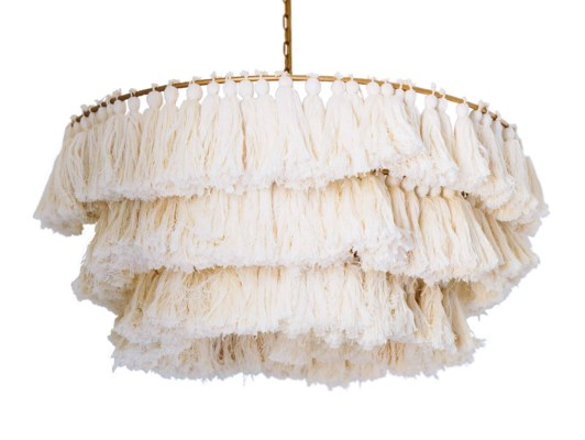 Fela Tassel Chandelier in White