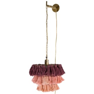 Fela Tassel Wall Pendant in Blush Ombre