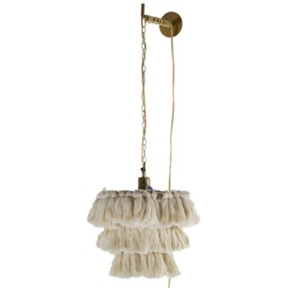 Fela Tassel Wall Pendant in White