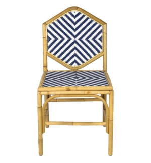 Lucia Dining Chair in Navy/White