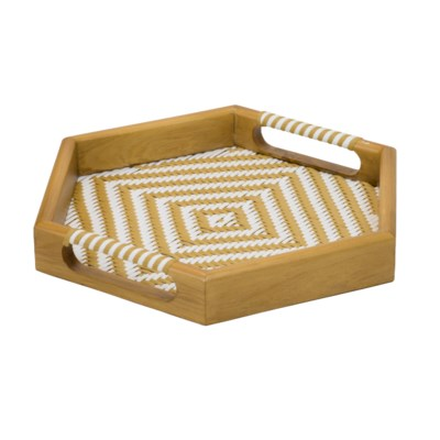 Selva Tray in Natural/White
