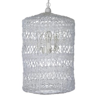 Vela Cirrus Pendant in Large in White
