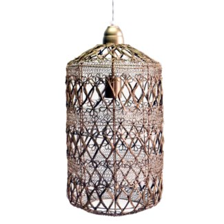 Vela Pendant in Small in Antique Brass