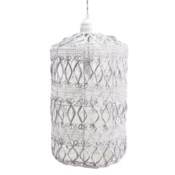 Vela Pendant in Small in White