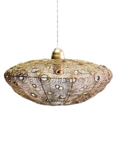 Vela Stratus Pendant in Antique Brass