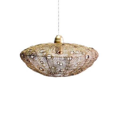 Vela Stratus Pendant in Antique Brass