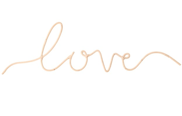 """Love "" Word Art"