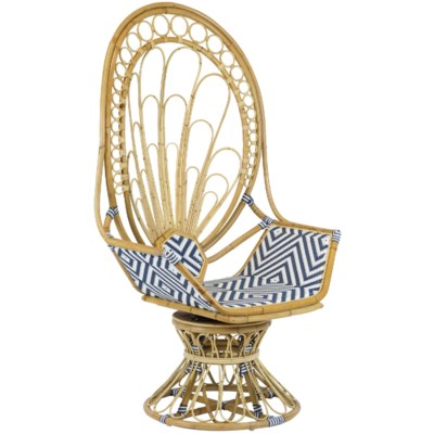 Justina Zahra Peacock Chair - Navy