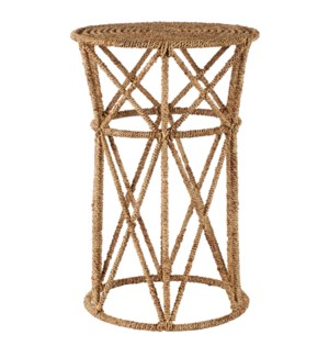 Jute Buoy Side Table in Natural