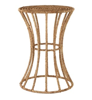 Jute Spool Side Table in Natural