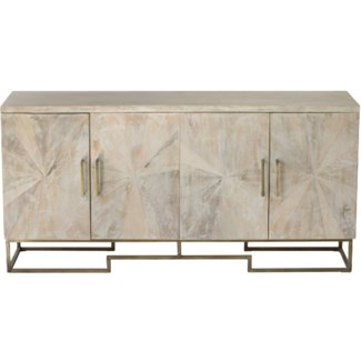 Justinian Credenza White Washed