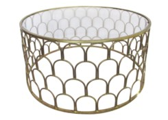 Justinian Coffee Table Antique Brass