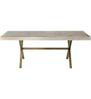 Justinian Dining Table White Washed