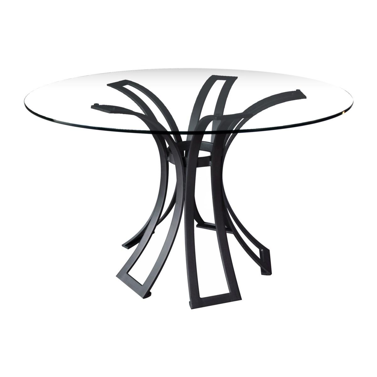 Klismos Dining Table Base in Black