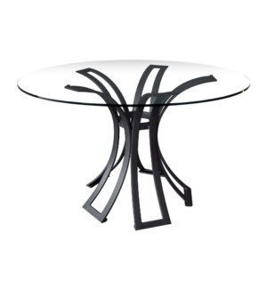 Klismos Dining Table Base in Black