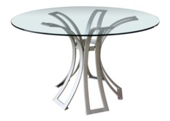 Klismos Dining Table Base in Silver