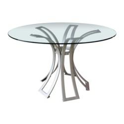 Klismos Dining Table Base in Silver