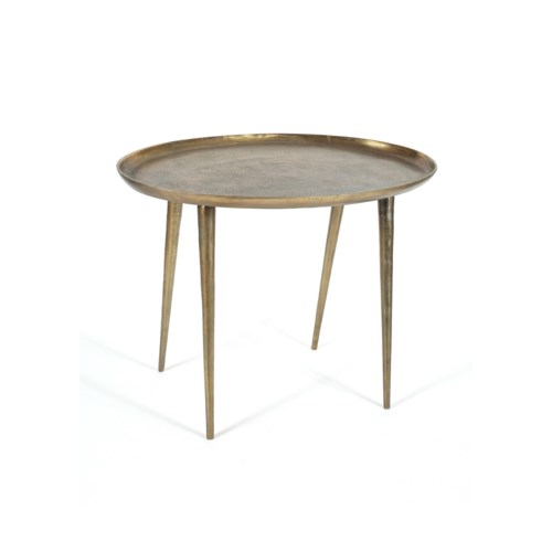 Lake Large Side Table in Antique Brass