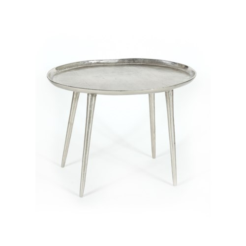 Lake Small Side Table in Pewter