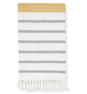 Mariolu Mustard Throw Blanket - LIQ