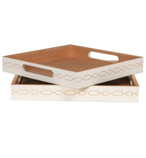Norma Square Nesting Trays (2) in White