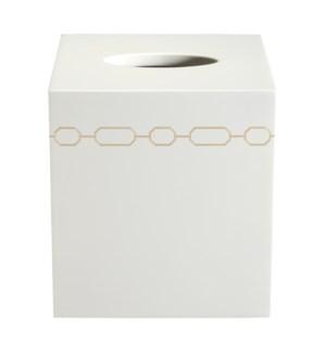 Norma Tissue Cover in White
