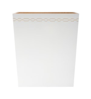 Norma Wastebasket in White