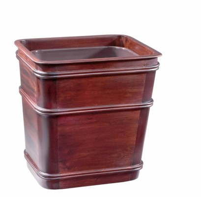 Classic Medium Wastebasket in Mahogany