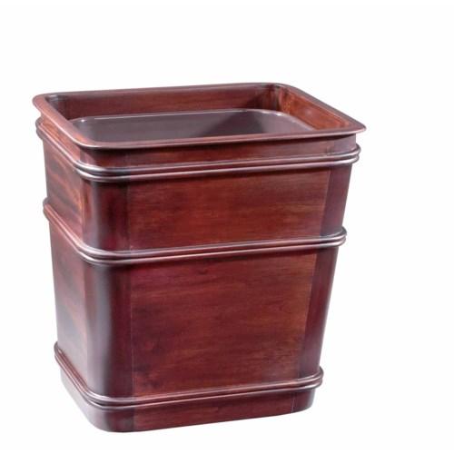 Classic Medium Wastebasket in Mahogany