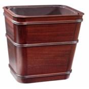 Classic Large Wastebasket in Mahogany