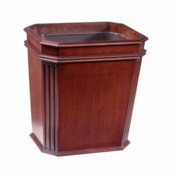 Mahogany Fluted Wastebasket in Natural