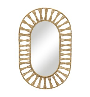 Ojai Oval Mirror in Natural