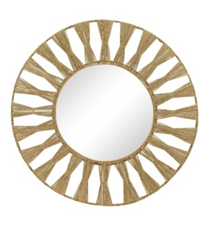 Ojai Round Mirror in Natural