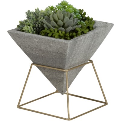 Olema Planter in Grey