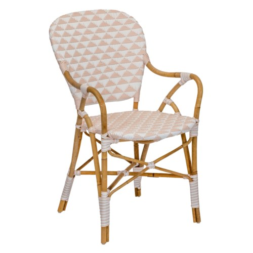 Pinnacles Arm Chair in White/Blush