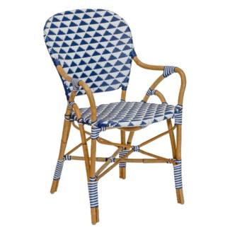 Pinnacles Arm Chair in White/Navy