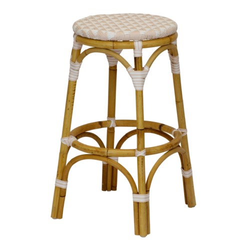 Pinnacles Bar Stool in White/Blush