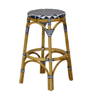 Pinnacles Bar Stool in White/Navy