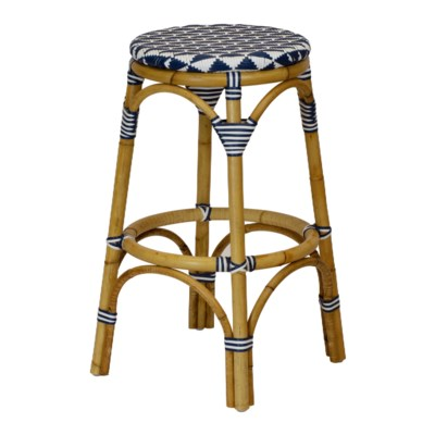 Pinnacles Bar Stool - White/Navy