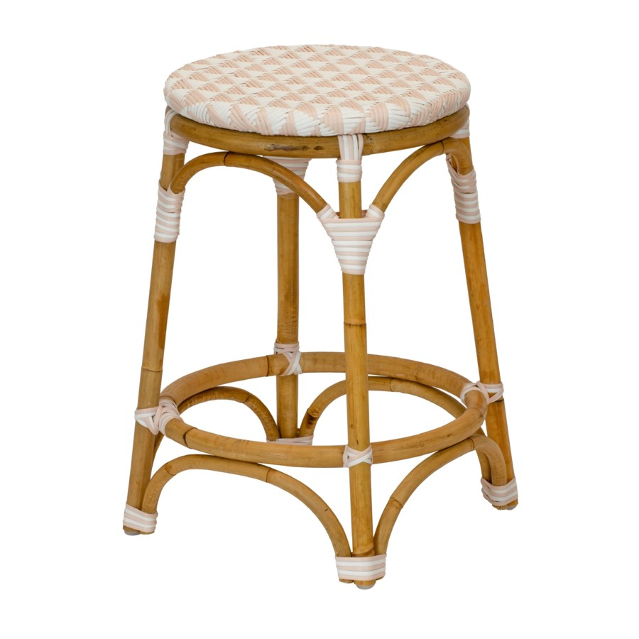 Pinnacles Counter Stool in White/Blush